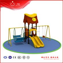 outdoor metal plastic swing with slide