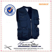 SUNNYTEX Hot Selling Customised Design Canvas Work Vest
