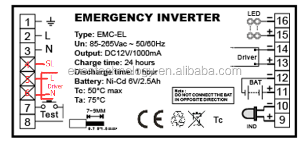 T5 Emergency Ballast Battery With Led Emergency Inverter