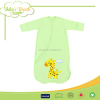 BSB084 anti-bacterial 100% cotton printed fur outdoor baby knit sleeping bag
