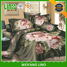 quality cotton selected patterns beautiful bed sheet sets/3d bed cover set/3d bed sheet sets