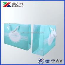 Custom printing foldable kraft shopping bag