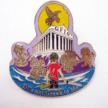 photo etched soft enamel lapel pin custom metal badge