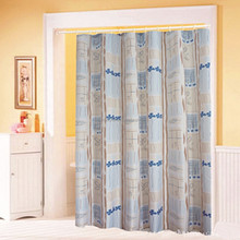 garden shower curtain floral printed sheer curtains for bathroom, living room, dining room