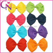 Factory Directly Sale Fashion Western Polyester Hair Bow For Girls