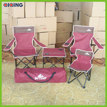 Hot sale Korean Folding high back Outdoor folding camping chair(Table+Chair+Bag) HQ-5001-45