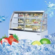 Mini euro style open door glass marble cake counter showcase