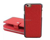 Electroplating pc Cell Phone Case With coin purse back cover For samsung galaxy s6 ,pu Case For samsung galaxy s6 edge