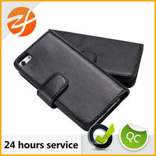 Best Selling Super Quality Custom Print New Leather Folding Wallet Case For Iphone 5