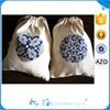 2015 China Price Cheap Cotton Drawstring Bags/Cotton Pouch Bag