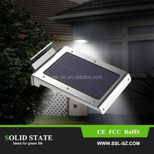 Wholesale Solar Power Panel 46 LED Fence Gutter Light for Outdoor Garden Wall Street Pathway Lamp Cold/Warm White