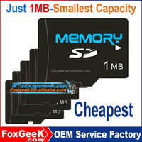 Just 1MB Smallest Capacity SD memory Card,micro capacity 1 MB Taiwan SD card for advertisement 2 4 8 16 32 64 256 512 G GB