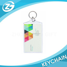 China Factory Personlaized LOGO Promotional Custom Rectangle Photo Acrylic KeyChain For Business Card