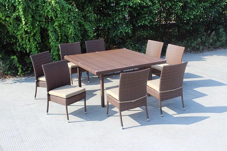 quadratischen tisch und 8 sitzer stapelstühle garten ess-set-set, Esstisch ideennn