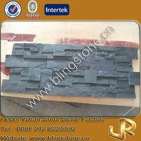 Natural slate stone flat tiles black