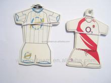 football shirt paper air freshener for car/new gift promotion