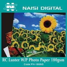 180gsm 240gsm 260gsm waterproof RC luster photo paper for inkjet printer