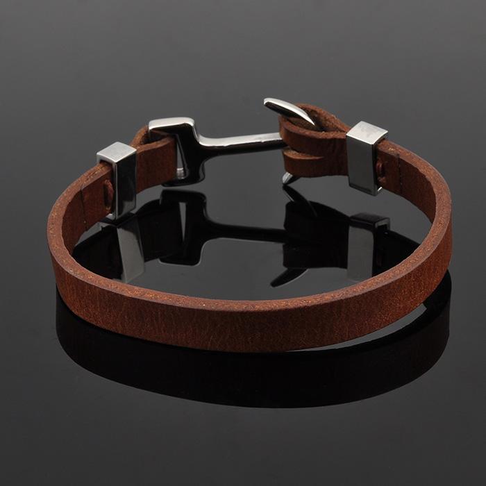 Nuevos productos 2016 para hombre pulseras de cuero, chapado en oro de joyería de la