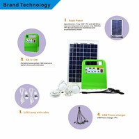 10W solar lighting system for home use