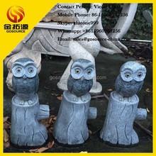 garden stone owl animal sculpture