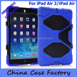 Heavy Duty Silicone Waterproof Shockproof Case For iPad 6/iPad air 2