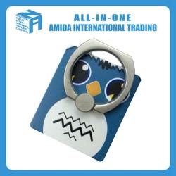 owl shape cute ring mobile phone holder