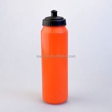 Big capacity PE plastic water bottle BPA FREE with silicone mouth