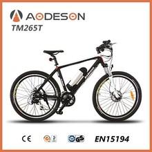 black carbon fiber frame electric bicycle/electric bike AODESON TM265T