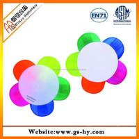 Flower shape multicolor plastic highlighter pen