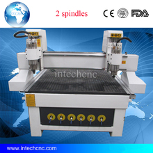 2 spindles wooden door and furniture engraving machine 1325 cnc woodworking machine