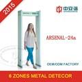 Andar- através de detector de metais com 6 zonas, projeto de estrutura simples e estável desempenho