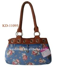 2012 fashion printing canvas lady tote handbag