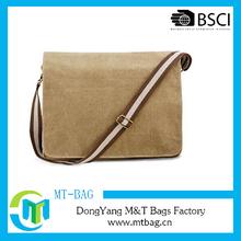 Vintage canvas shoulder messenger bag blank bag for men