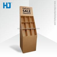 Professional design DVD storage counter cardboard display rack / cardboard pos counter displays