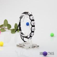 Black adjust clasp plastic environmental bracelet popular style wholesale