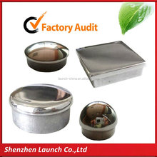 50x50,65x65,75x75,90x90,100x100 square dome stamped galvanized steel top cap