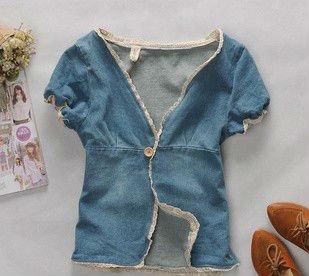 أحدث أزياء سيدة نمط جينز للصدرية، جيليه