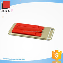 Sticker Silicone Phone stand with Bank card pocket