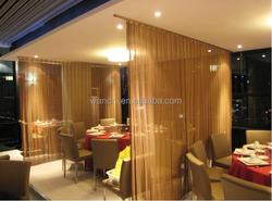 metal curtain wall drapery/decorative wire mesh/curtain decorative metal curtain
