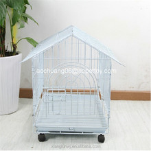 metal Wire Dog Kennel With wheels
