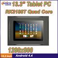 Baratos 13.3 polegadas quad core tablet pc com alta resolução 1280x800 câmera de 2mp wifi blutooth usb port 4.4 android