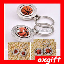 OXGIFT Custom logo Basketball Metal Key chain