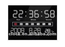 LED calendar wall clock