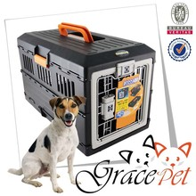 IATA plastic animal carrier / dog travel carrier