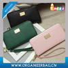 Encai Ladies Elegant Zipper Wallet Good Leather Women's Purse With Handle New Arriaval