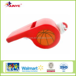 Ningbo Junye big plastic basketball whistle for promotion