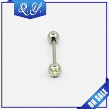 High Quality India One Stone tongue ring Body Piercing/Box Wholesale Jewelry/body jewelry stickers