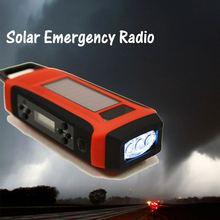 Solar hand crank portable radio cassette recorder