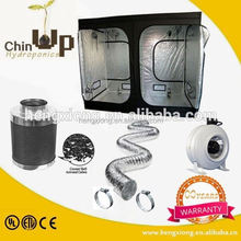 Hydroponics complete grow tent kit/aluminum flexible duct/inline duct battery operated exhaust fan