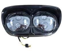 6000K Dual LED Headlight Assembly for Harley Davidson Road Glide High / Low Beam Headlamps